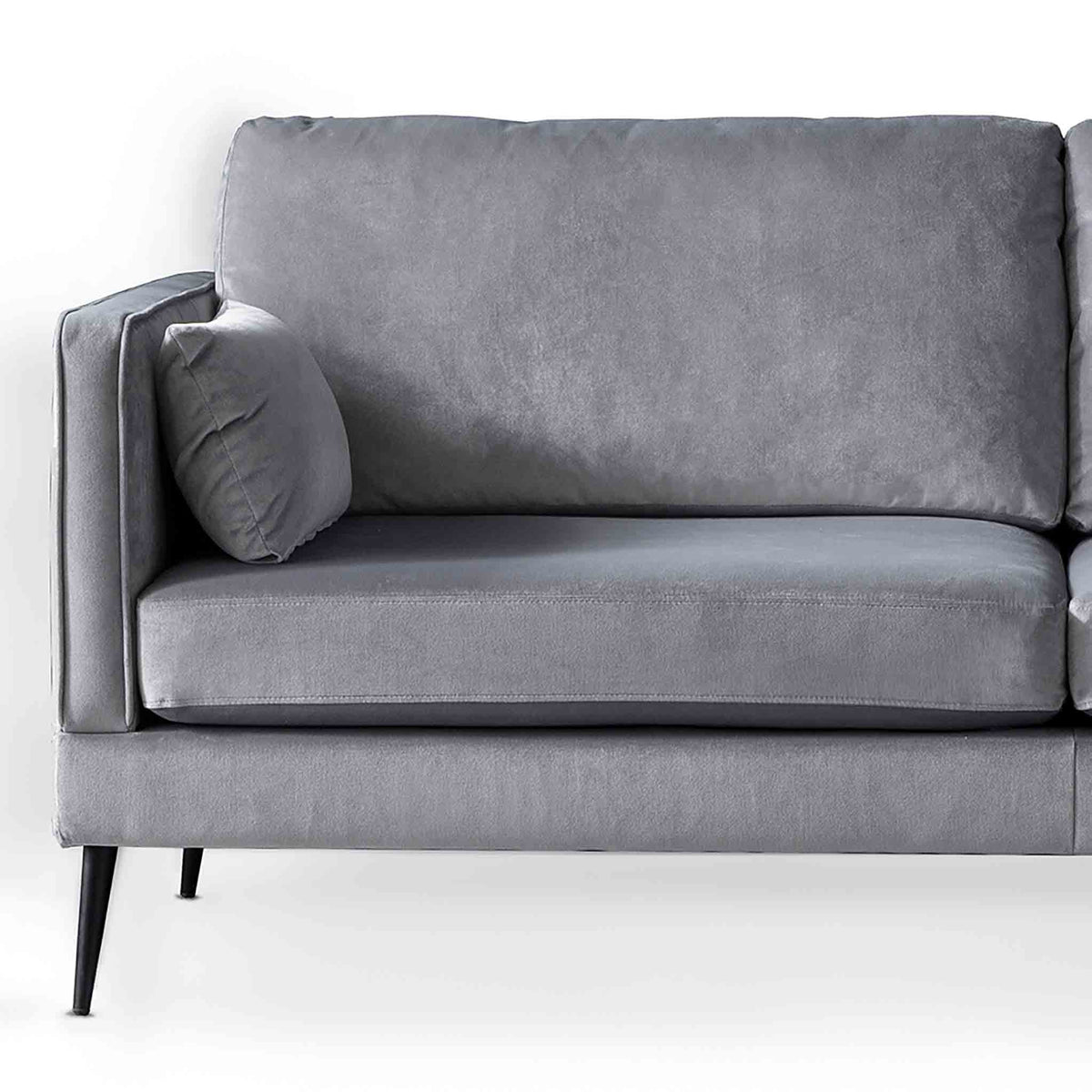 Anton Grey 3 Seater Sofa - Close up of sofa