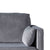 Anton Grey 3 Seater Sofa - Close up of arm rest and back of sofa