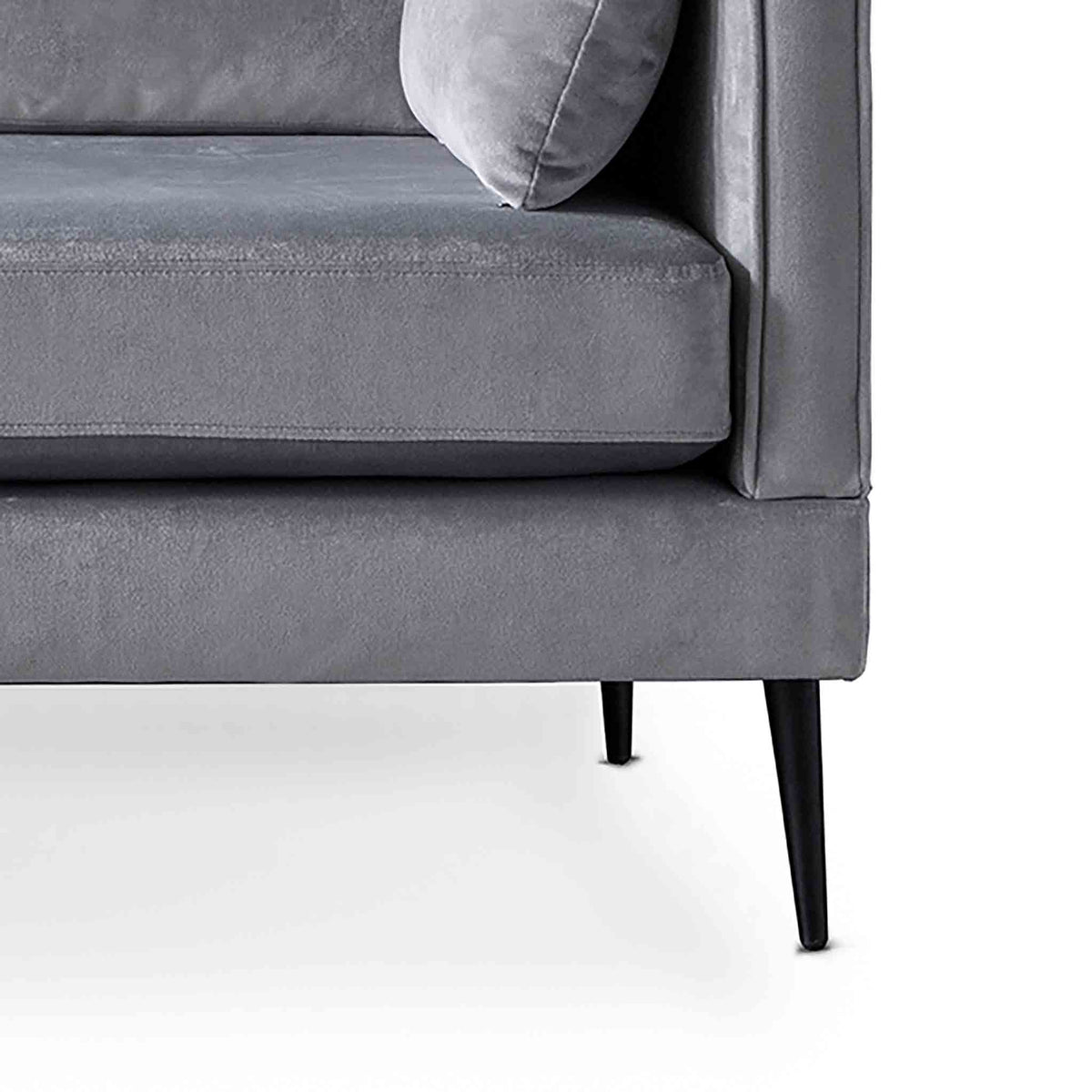 Anton Grey 3 Seater Sofa - Close up of feet