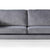 Anton Grey 3 Seater Sofa - Close up of mid section of sofa