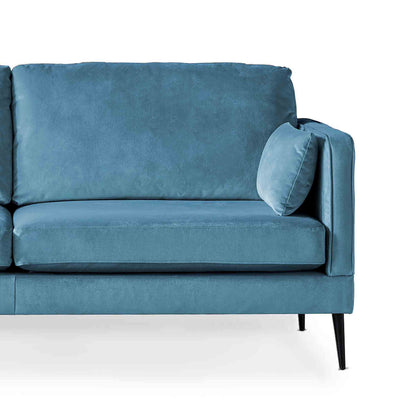 Anton Peacock 3 Seater Sofa - Close up of sofa
