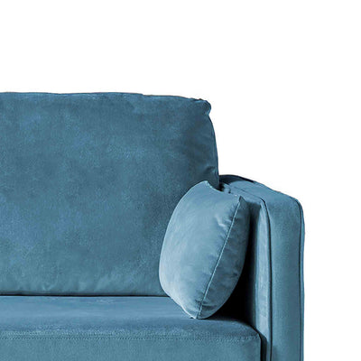 Anton Peacock 3 Seater Sofa - Close up of arm rest on sofa