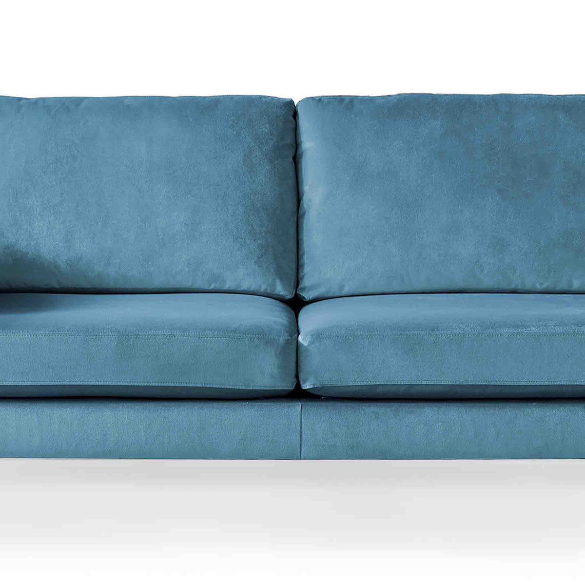 Anton Peacock 3 Seater Sofa - Close up of mid section on sofa