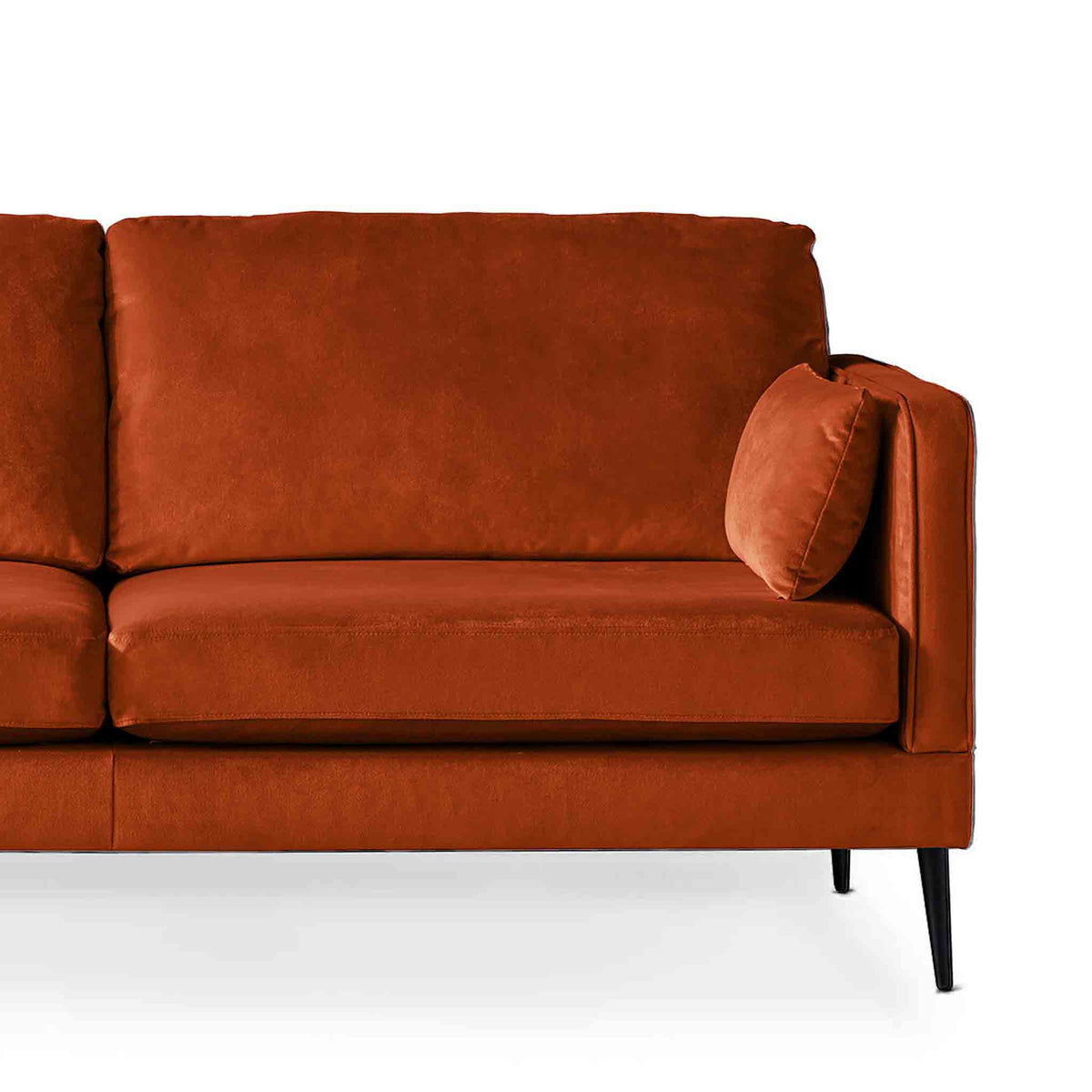 Anton Apricot 3 Seater Sofa - Close up of sofa