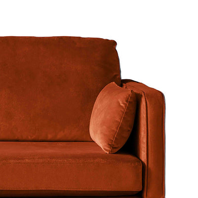 Anton Apricot 3 Seater Sofa - Close up of arm rest on sofa