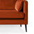 Anton Apricot 3 Seater Sofa - Close up of feet on sofa