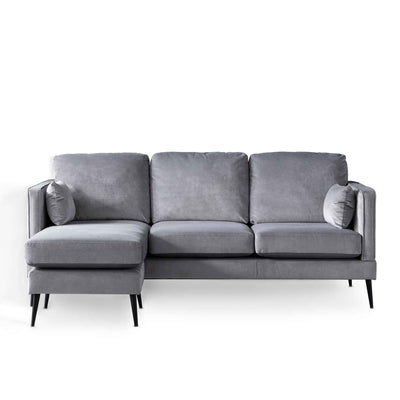 Anton Reversible Grey Corner Chaise Sofa by Roseland Furniture
