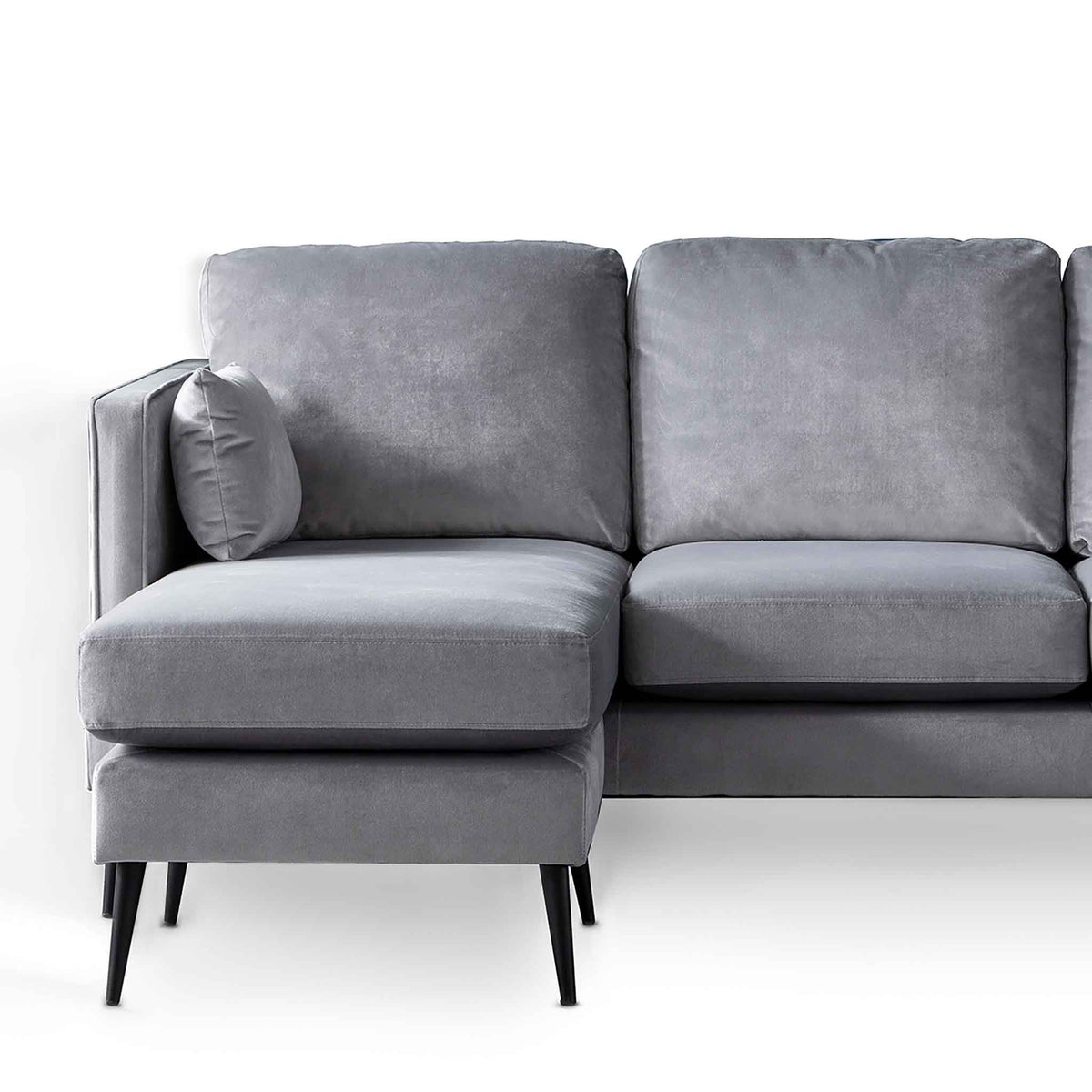 Anton Reversible Grey Corner Chaise Sofa - Close up of Chaise section