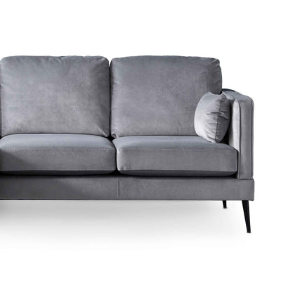 Anton Reversible Grey Corner Chaise Sofa - Close up of sofa
