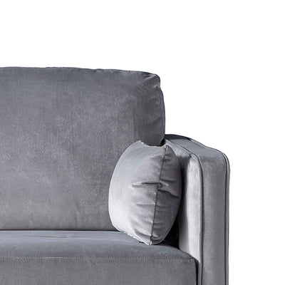 Anton Reversible Grey Corner Chaise Sofa - Close up of arm rest
