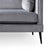 Anton Reversible Grey Corner Chaise Sofa - Close up of feet and frame