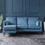 Anton Reversible Peacock Corner Chaise Sofa - Lifestyle left hand chaise