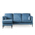 Anton Reversible Peacock Corner Chaise Sofa by Roseland Furniture