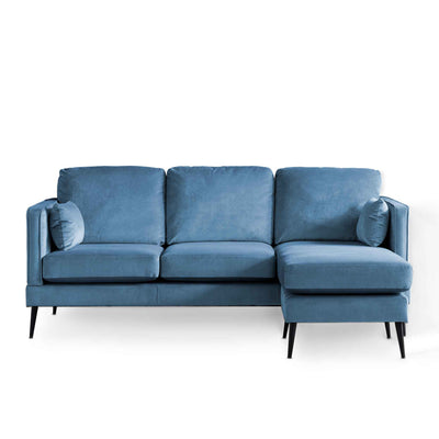 Anton Reversible Peacock Corner Chaise Sofa - Right hand chaise