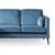 Anton Reversible Peacock Corner Chaise Sofa - Close up of sofa section