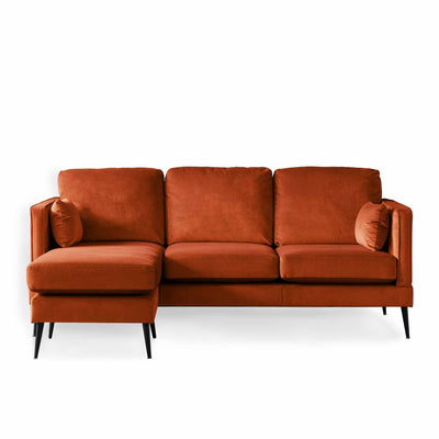 Anton Reversible Apricot Corner Chaise Sofa by Roseland Furniture
