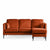 Anton Reversible Apricot Corner Chaise Sofa - Right hand chaise