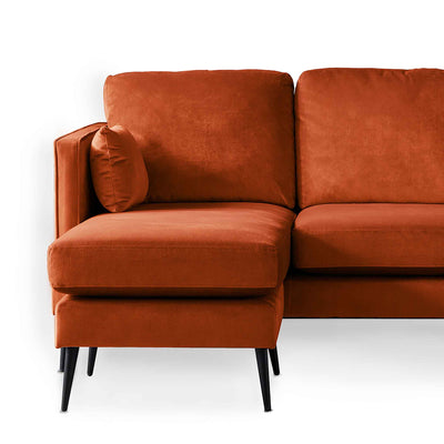 Anton Reversible Apricot Corner Chaise Sofa - Close up of chaise section