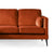 Anton Reversible Apricot Corner Chaise Sofa - Close up of sofa section