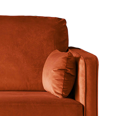 Anton Reversible Apricot Corner Chaise Sofa - Close up of arm rest