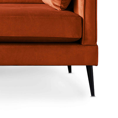 Anton Reversible Apricot Corner Chaise Sofa - Close up of feet