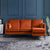 Anton Reversible Apricot Corner Chaise Sofa - Lifestyle of right hand chaise