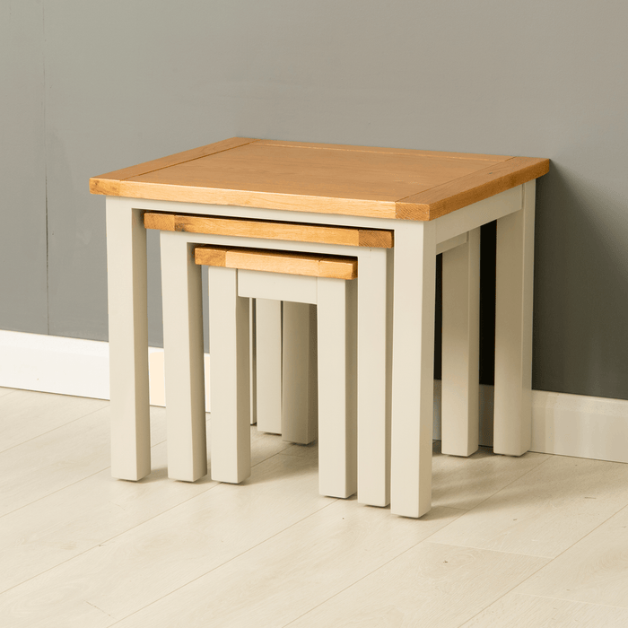 Mullion Grey Nest of Tables