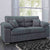 Amalfi Charcoal 2 Seater Fabric Sofa