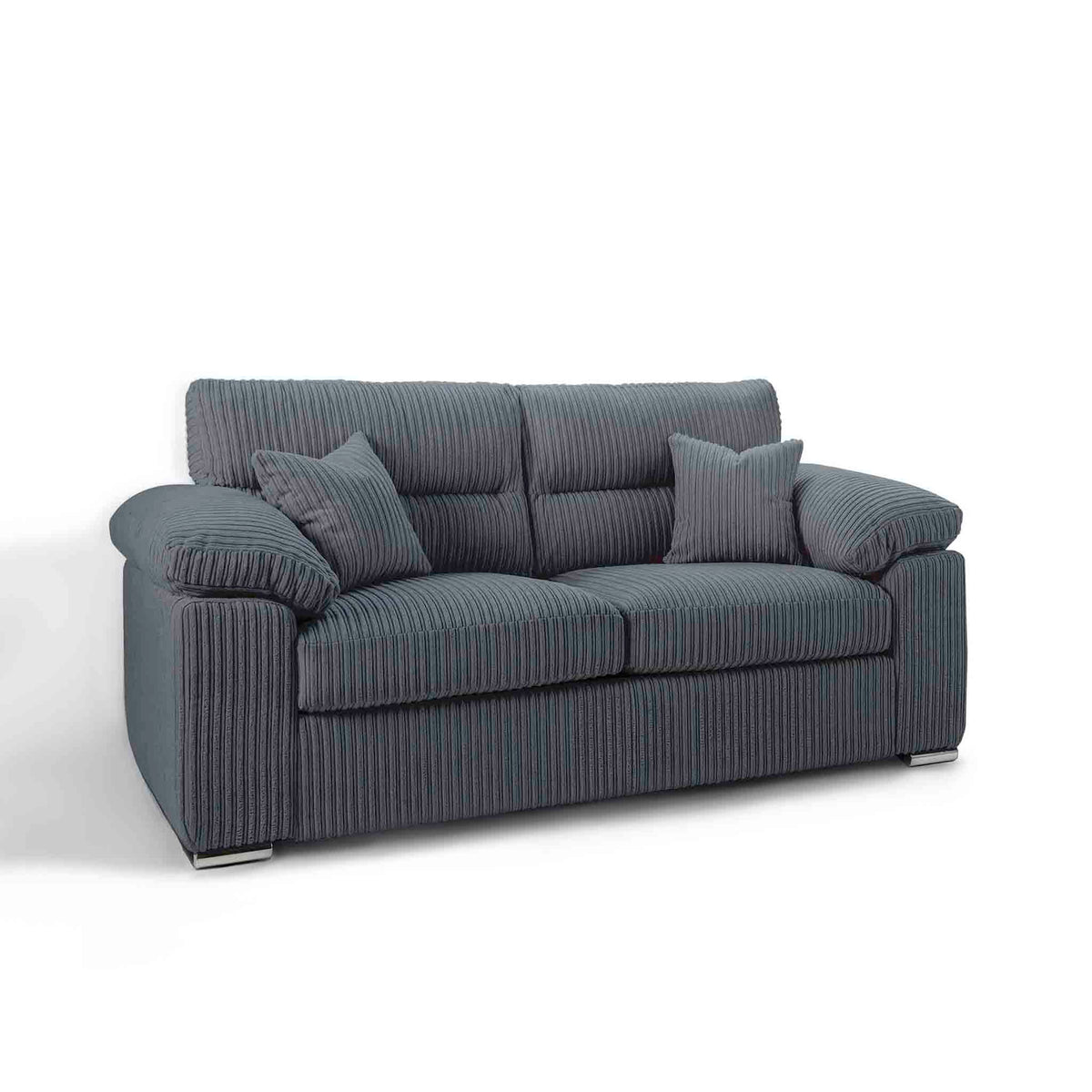 Amalfi Charcoal 2 Seater Fabric Sofa from Roseland Furniture