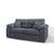 Amalfi Charcoal 2 Seater Fabric Settee