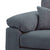 close up of chunky arm cushions on the Amalfi Charcoal 2 Seater Fabric Sofa