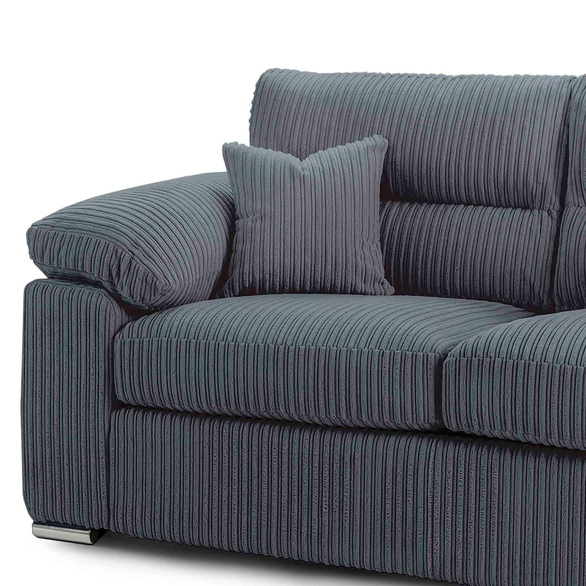 matching accent cushions feature with the Amalfi 2 Seater Fabric Sofa