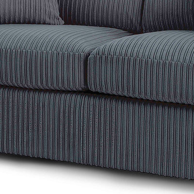 soft thick lined fabric on the Amalfi 2 Seater Fabric Sofa