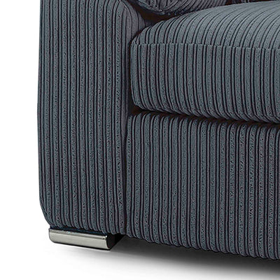 stainless steel feet on the Amalfi Charcoal 2 Seater Fabric Sofa