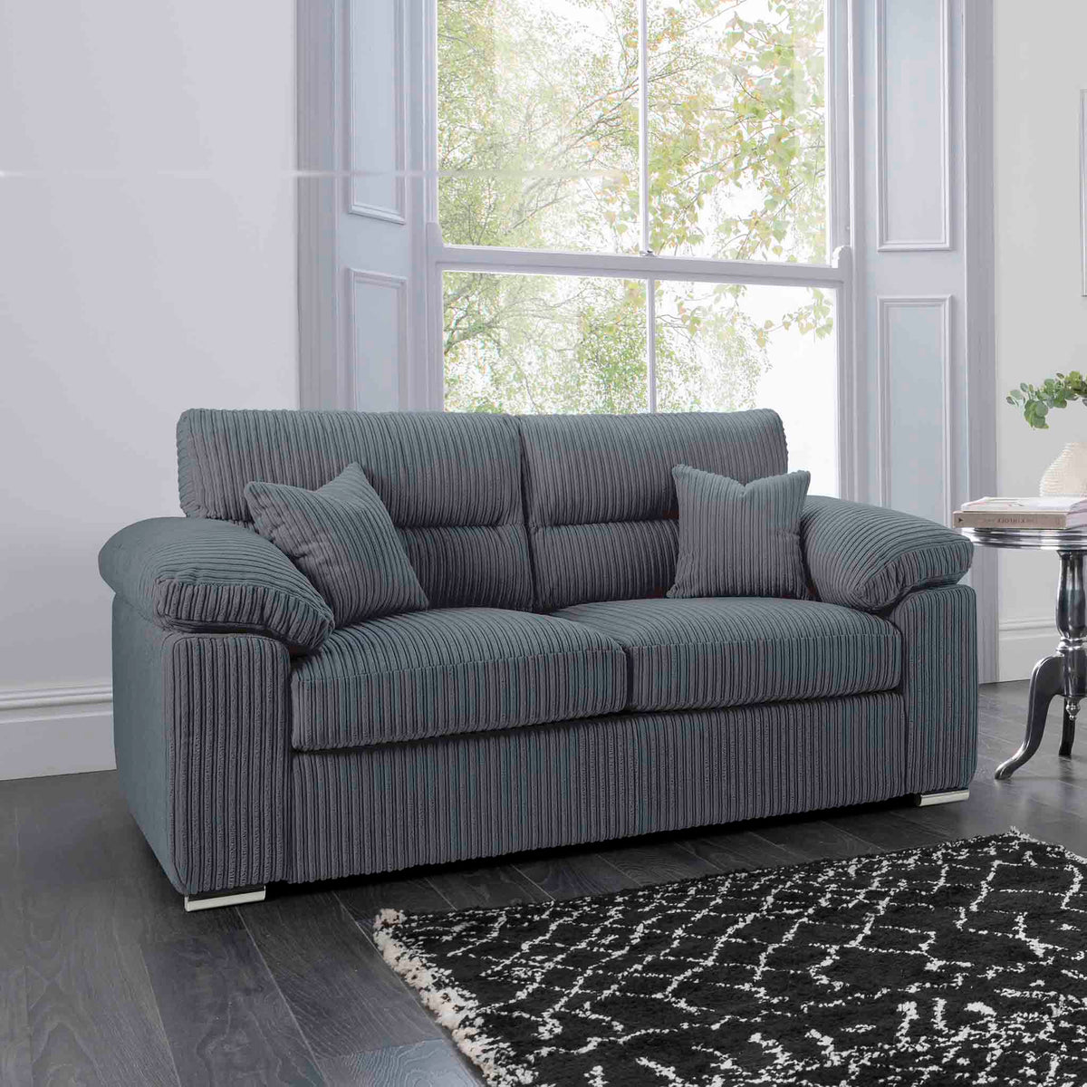 Amalfi Charcoal 2 Seater Fabric Sofa lifestyle image