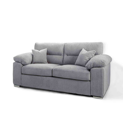 Amalfi Silver 2 Seater Fabric Settee from Roseland Furniture