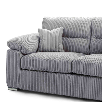 matching accent cushions on the Amalfi Silver 2 Seater Fabric Sofa