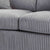 soft thick lined fabric on the Amalfi Silver 2 Seater Fabric Sofa