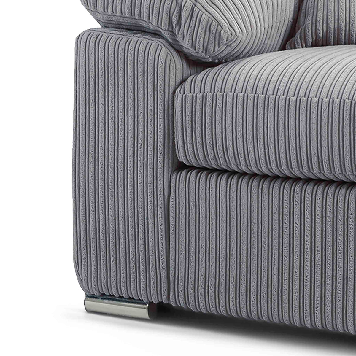stainless steel feet on the Amalfi Silver 2 Seater Fabric Sofa