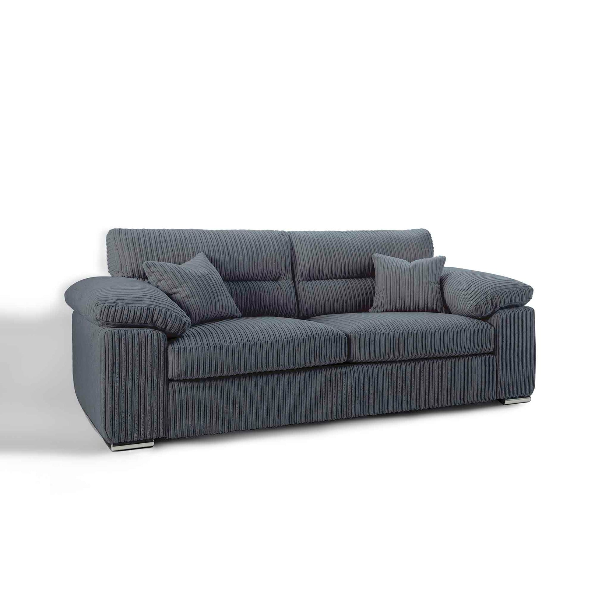 Amalfi Charcoal 3 Seater Sofa from Roseland Furniture