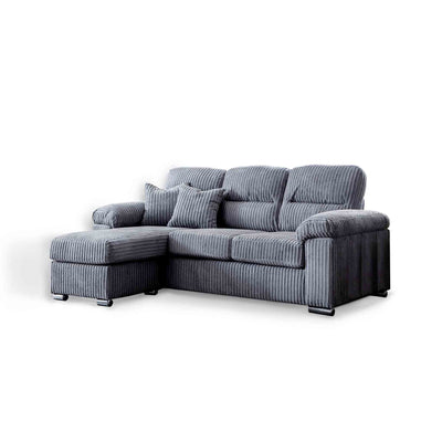 Amalfi Charcoal Corner Chaise Fabric Sofa from Roseland Furniture