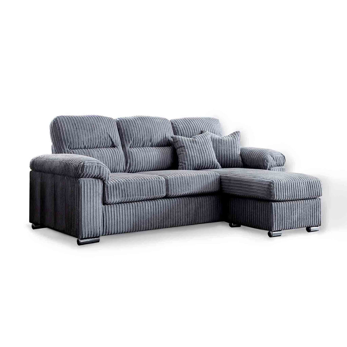 Amalfi Charcoal Corner Chaise Fabric Settee from Roseland Furniture