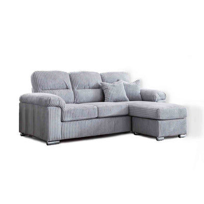 Amalfi Silver Corner Chaise Fabric Settee from Roseland Furniture