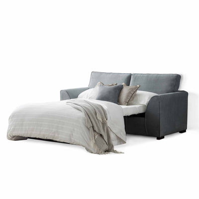 Dallas Charcoal 2 Seater Sofa Bed - With bed open