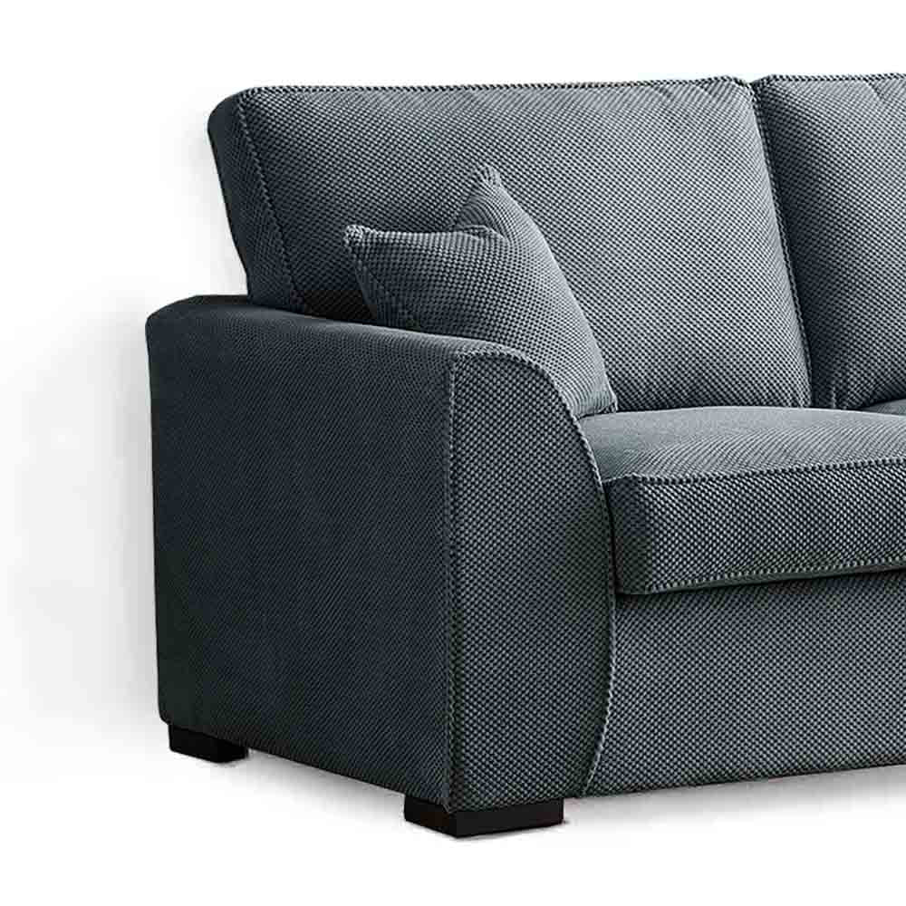 Dallas Charcoal 2 Seater Sofa Bed - Side view