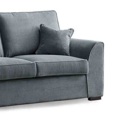 Dallas Charcoal 2 Seater Sofa Bed - Close up of arm rest