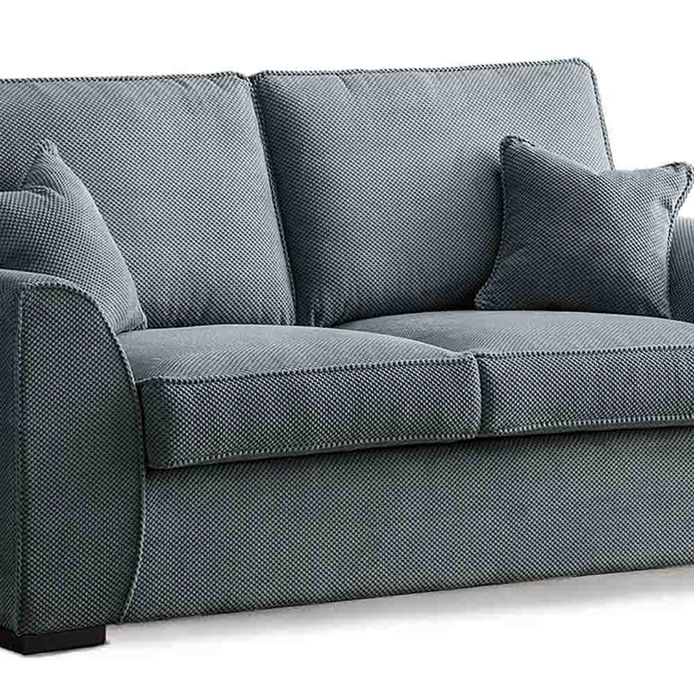 Dallas Charcoal 2 Seater Sofa Bed - Close up of sofa bed cushions