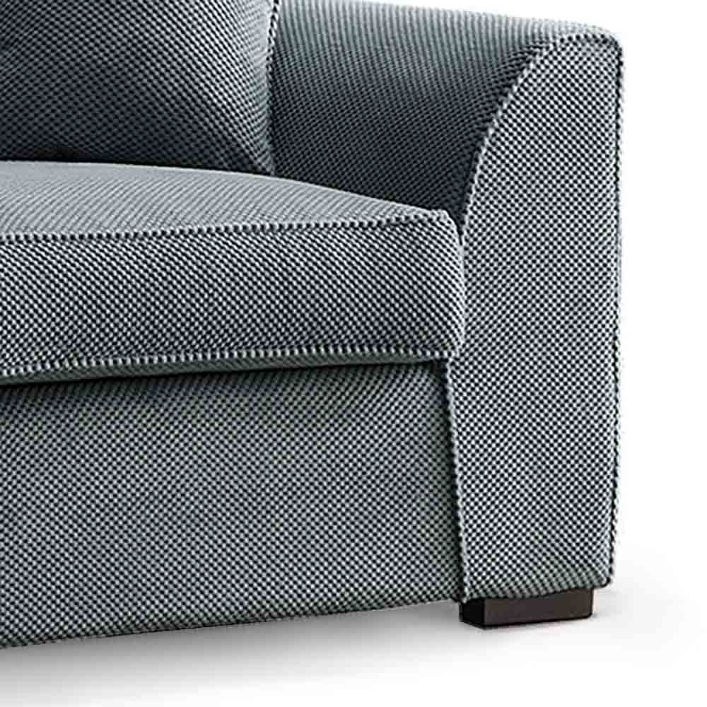 Dallas Charcoal 2 Seater Sofa Bed - Close up of foot on sofa bed