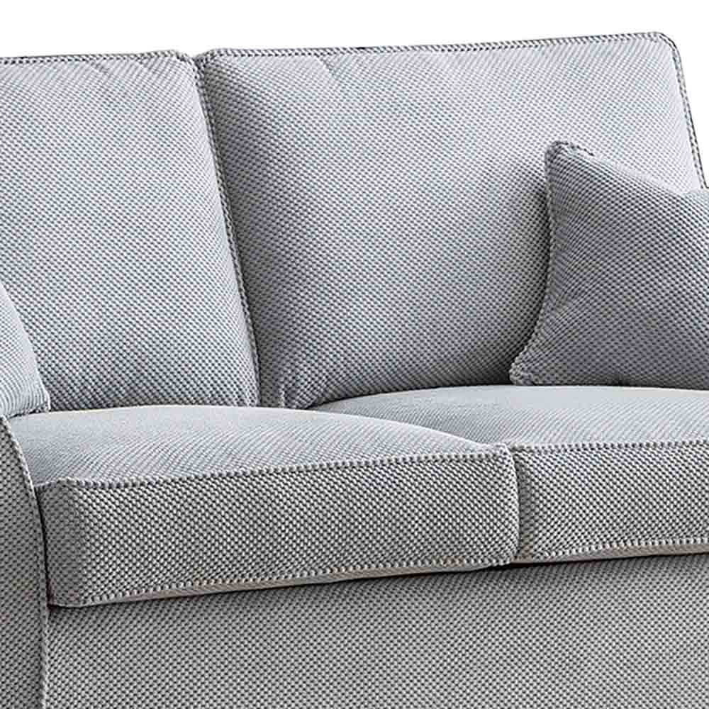 Dallas Silver 2 Seater Sofa Bed - Close up of cushions on sofa bed