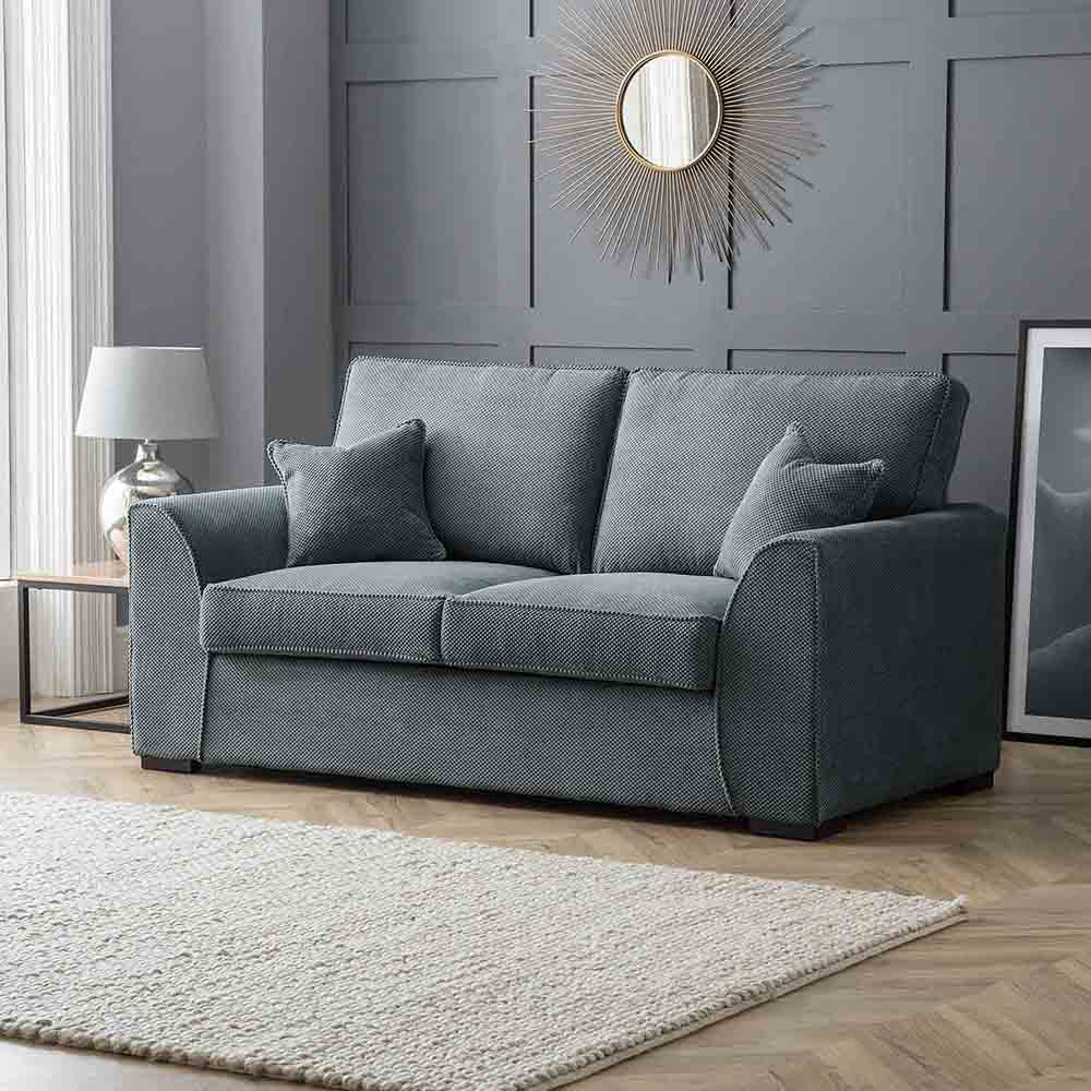 Dallas Charcoal 2 Seater Sofa - Lifestyle